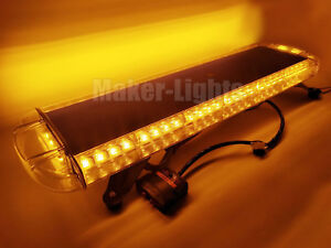 30 56w Led Amber Flashing Emergency Beacon Warn Tow plow Truck Strobe Light Bar