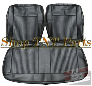 1962 1964 Chevrolet Nova Bench Seat Covers Chevy Ii Front Upholstery Skins Black