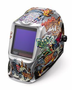 Lincoln Electric Viking 3350 Hot Rodders Auto darkening Welding Helmet K4440 3