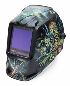 Lincoln Electric Viking 3350 Zombie Auto darkening Welding Helmet K4158 3