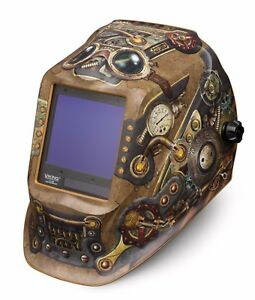Lincoln Electric Viking 3350 Steampunk Auto darkening Welding Helmet K3428 3