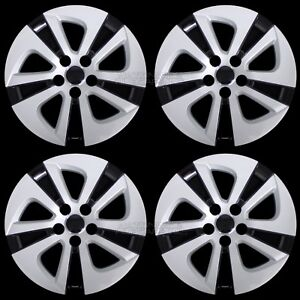 4 Silver Black 2016 2018 Toyota Prius 15 Wheel Covers Hub Caps Full Rim Skins