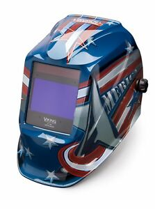 Lincoln Electric Viking 2450 All American Auto Darkening Helmet K3174 3