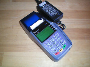 Verifone Vx510 Omni 3730 Le credit Card Terminal With Power Supply