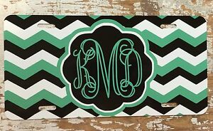 Chevron Personalize Monogrammed License Plate Car Tag Initials Custom