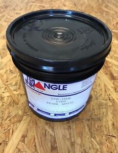 Triangle Pearl White High Opaque Low Bleed Plastisol Screenprint Ink Gallon