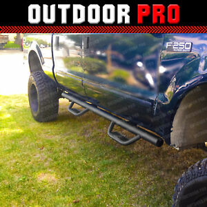 Fit 99 14 Ford F 250 Sd Crew Cab H Style Running Boards Nerf Bars Side Steps