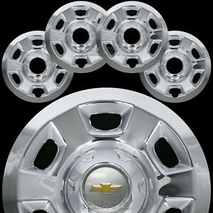 4 Chrome 2015 2020 Chevy Colorado 16 Wheel Skins Hub Caps Full Covers Steel Rim