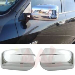 For 2009 2017 Dodge Ram 1500 Chrome Mirror Cover Full Covers w o Arm Style