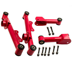 For Ford Mustang 79 04 Upper Lower Rear Tubular Control Arms W Hardware 4 Pcs