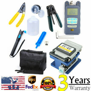 Fiber Optic Ftth Tool Kit With Fc 6s Fiber Cleaver Optical Power Meter Finder