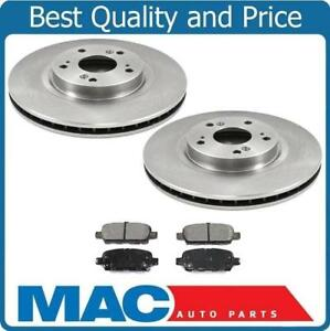 Rear Brake Rotors Pads Fits For Nissan 350z 03 05 W o Brembo Calipers