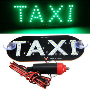 Auto Green 45 Led Cab Taxi Roof Sign Light 12v Vehical Inside Windscreen Lamp Pl