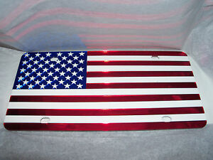 American Flag License Plate Color s red white blue Brand New