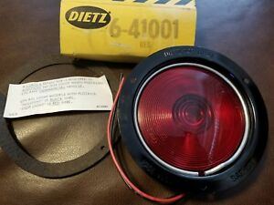 Nos Vintage Dietz 6 41001 Red Tail Stop Light Sae 1st