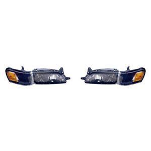 To2505106 Fits 1993 1997 Toyota Corolla Headlight Performance Pair Chrome Bezel