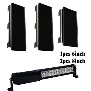 22inch Snap On Protective Cover Black 2x 8 1x 6 For Led Light Bar Offroad