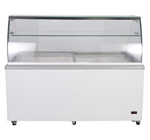 Chef s Exclusive 71 Commercial Ice Cream Dipping Cabinet Display Freezer 12 Tub
