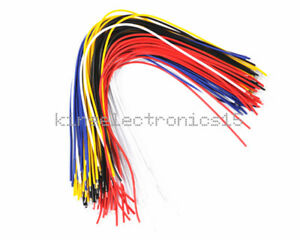 100pcs 20cm New Color Flexible Two Ends Tin plated Breadboard Jumper Cable Wires