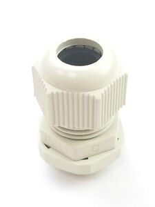 100 Pg11 White 4 Ga Waterproof Nylon Cable Gland Connector 5 10mm Cable Range