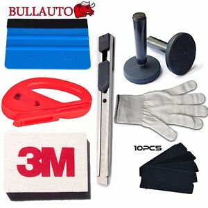 Car Wrapping Installation Tools Kit Vinyl Wrap 3m Squeegee Glove Magnet Free Us