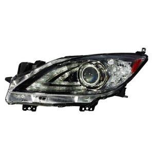 Ma2518149 Fits 2010 2013 Mazda 3 Driver Side Hid Headlight Lens Housing
