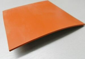 Silicone Rubber Sheet High Temp Solid Red orange Commercial Grade 14 X14 X1 4
