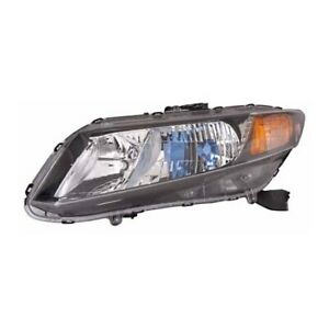 Ho2502145 Fits 2012 Honda Civic Hybrid Driver Side Headlight Bulbs Incl Capa