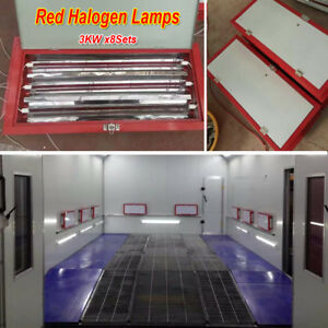 3kw Halogen Spray Baking Booth Infrared Paint Curing Lamps Heater Heating Lights