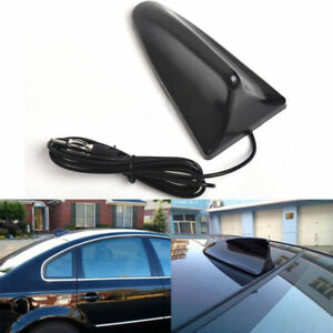 Universal Car Truck Van Roof Top Black Shark Fin Antenna Radio Signal Aerial Kit