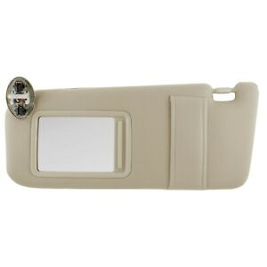 New Sun Visor Left Driver Side Tan For 07 11 Toyota Camry With Sunroof And Light