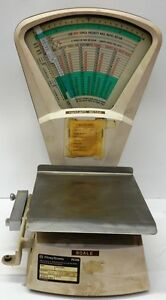 Vintage Pitney Bowes Model S 510 Postage Scale 0 5 5 10 Lb Capacity