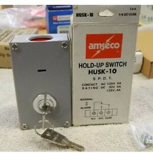 Qty Of 2 Amseco Husk 10 Hold Up Switch Key Resetable