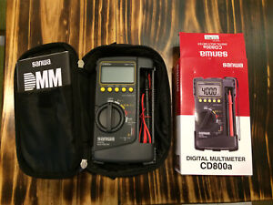 New Genuine Sanwa Digital Multimeter Cd800a Dmm With Gift Soft case