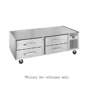 Randell 20105sc c4 Three Section Refrigerated Base Equipment Stand With Casters