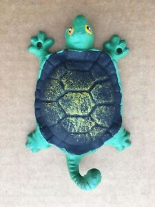 Cast Iron Turtle Wall Coat Hat Key Towel Hook Rustic Vintage Antique Ocean Sea