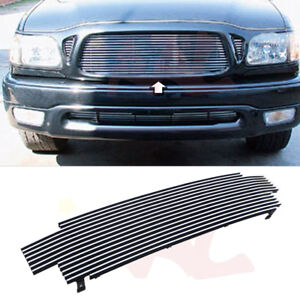 Aal For 2001 2004 Toyota Tacoma Upper Billet Grille Insert cover 3 Holes