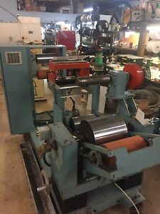 Davis Standard Plastic Sheet Cast Film Station With Haul Off Slitter And Payoff