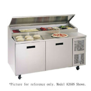 Randell 8148n 48 Refrigerated Raised Rail Pizza Prep Table