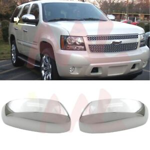 Aal 2007 2014 Chevy Tahoe Suburban Chrome Clip On Replacement Top Mirror Cover
