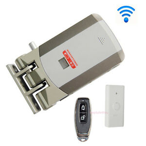 Wireless Door Lock Security Electric Home Anti theft Lock remote Control Opening