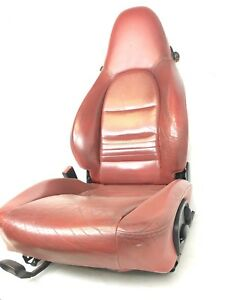 1997 2004 Porsche Boxster 986 987 Red Driver Front Seat Leather Oem Used
