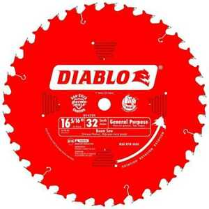 Diablo D1632x 16 5 16 X 32 Tooth Beam Cutting Blade New