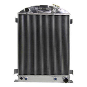 3row Aluminum Radiator For Ford Model A Chevy V8 Engine W Cooler 1930 37 38 Usa