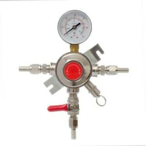 Draft Beer Secondary Co2 Pressure Regulator Individually Control 1 4 Kegs