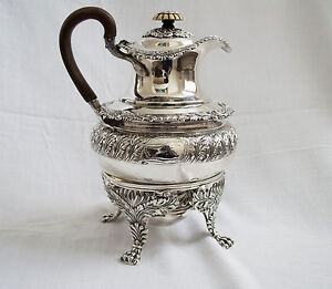 Paul Storr London 1816 George Iii Sterling Silver Coffee Pot W Stand