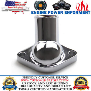 15 Degree Chrome Plated Thermostat Housing Water Neck For Chevy Small Big Block
