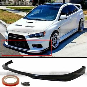 Fit 08 15 EVO X 10 Evolution MR Style Unpainted Front Bumper Lip Spoiler $75.99