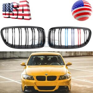New Carbon Fiber Glossy Kidney Grille For Bmw E90 E91 Facelift 323i 328i 335i