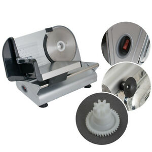 Restaurant Electric Food Slicer Meat Commercial Steel Cheese Cutter 7 5 Blade